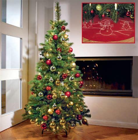 kunststoff tannenbaum h 246 he ca 120 cm mit beleuchtung
