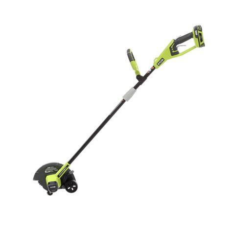home depot gas edger ryobi 9 in 24 volt lithium ion cordless edger shop your