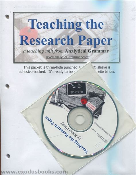 teaching the research paper analytical grammar teaching the research paper exodus books