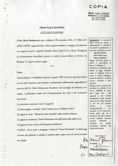citazione testi civile esame avvocato 2013 atto giudiziario civile la citazione