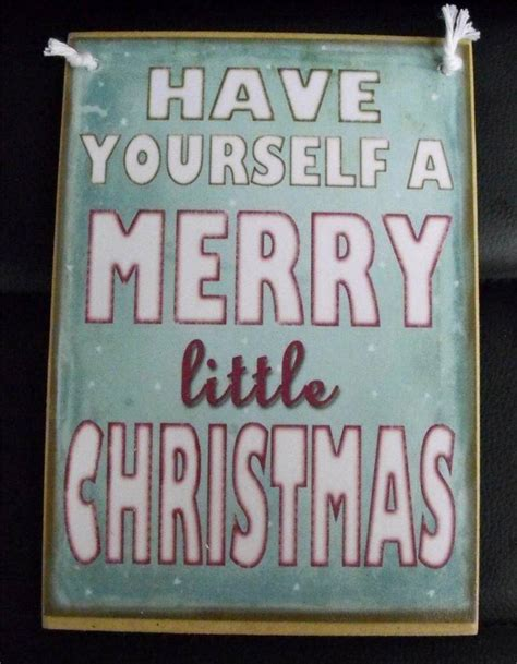 country printed quality wooden sign assorted xmas