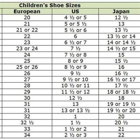 shoe size chart from mexico to usa kids shoe size conversion mexico to us kids matttroy