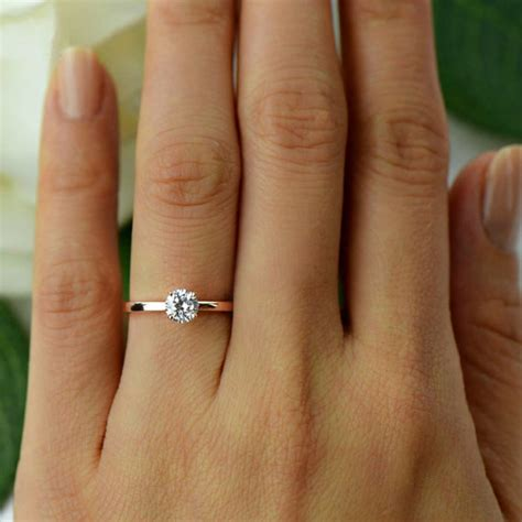 Verlobungsring Rotgold by 1 2 Ct Promise Ring Solitaire Ring Made