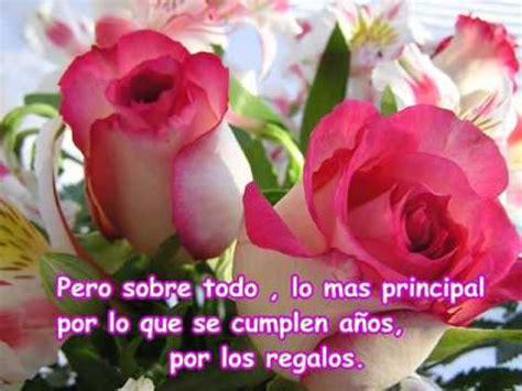 imagenes de feliz cumpleaños hermana rosa rosa feliz cumplea 209 os youtube