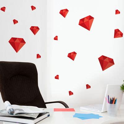 dali 16 art stickers 0486410749 diamonds set of 16 printed wall decals graphics stickers