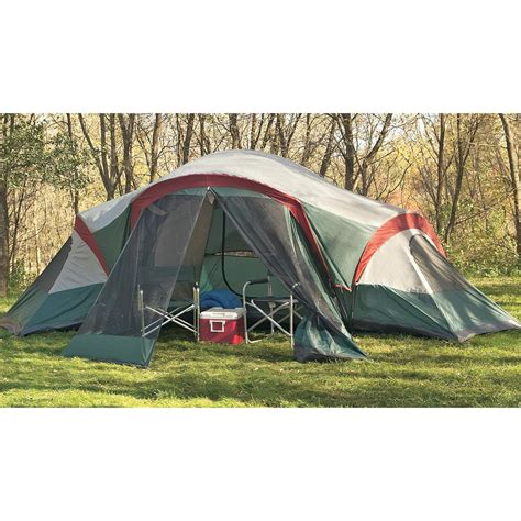 3 Room Family Dome Tent by Guide Gear 3 Room Family Dome Tent With Screened Porch