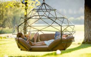Custom Chaise Cushions Modern Hanging Chairs Take The Coziness Outside
