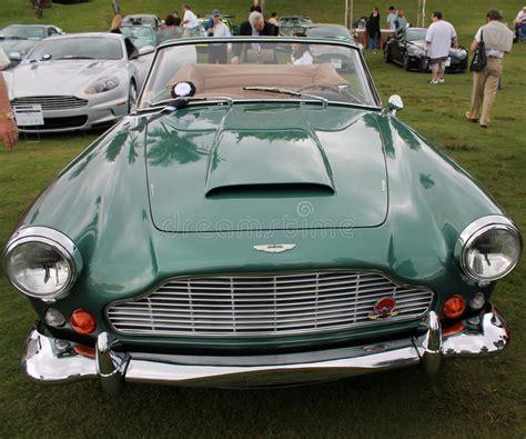 green aston martin convertible 1960s aston martin convertible editorial photo