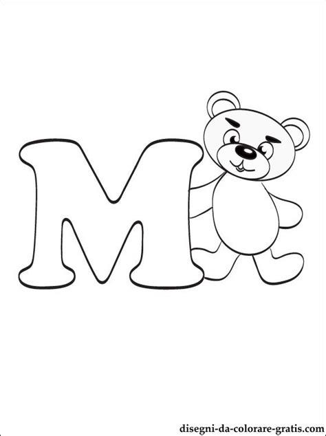 lettere dell alfabeto italiano da stare disegni da colorare lettera m disegni da colorare gratis