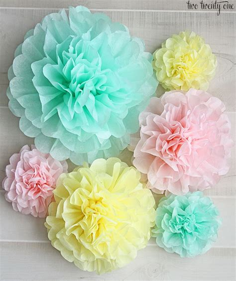 How To Make Paper Pom Poms Flowers - crafts made from tissue paper
