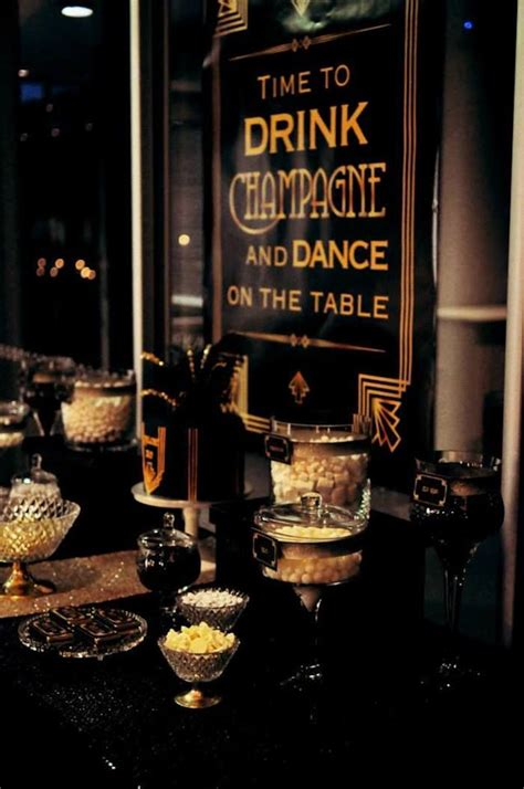 the great gatsby theme on love great gatsby themed birthday party so many great gatsby