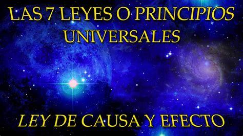 causa y efecto las 7 leyes o principios universales ley de causa y efecto