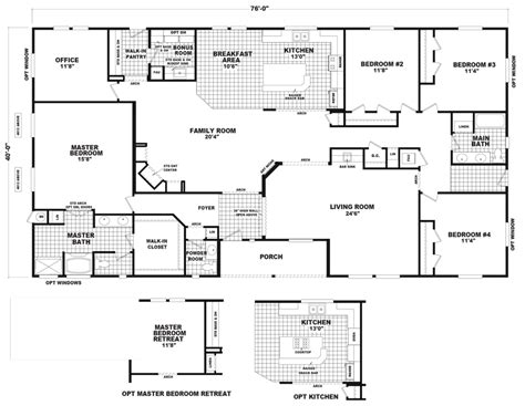 Home Floor Plans Sle | baymont 40 x 76 3040 sqft mobile home factory select homes