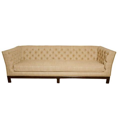 large tufted sofa large button tufted sofa with single cushion and nail head