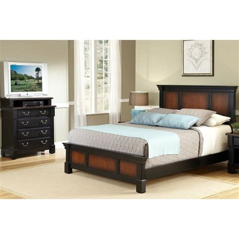 Black King Bedroom Sets Shop Home Styles Aspen Rustic Cherry Black King Bedroom Set At Lowes