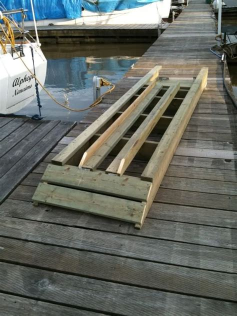 how to build a kayak boat re diy floating dock r progress thread kayak r