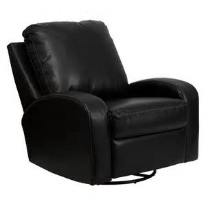 Rocker Glider Chair Flash Furniture Thomas Leather Swivel Glider Recliner At