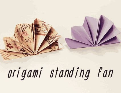 Origami Fan - three types of origami napkin folds for your table