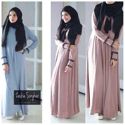 Baju Wanita Gamis Aleysa Jumbo Maxy Muslim Modern Modis Unik Cantik gamis maxi simpel zaskia 026 baju muslim remaja casual