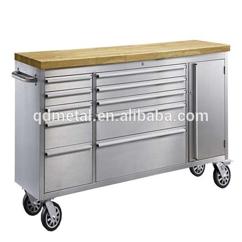 metal tool bench 72 inch rubber wood top metal workbench tool cabinet view