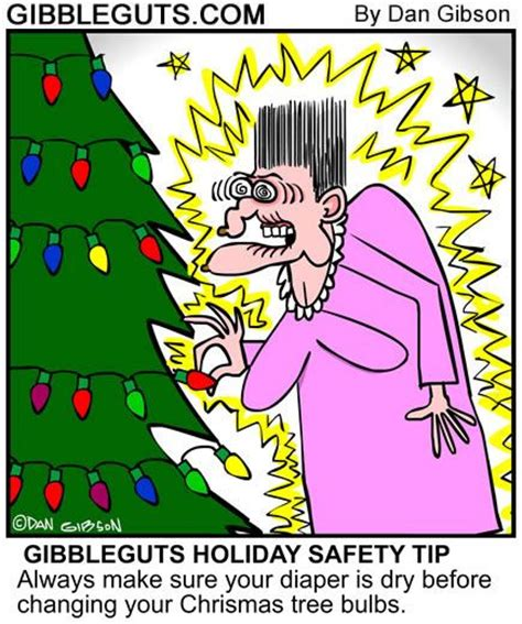 Cartoon Christmas Trees And Safety Tips On Pinterest Tree Lights Safety