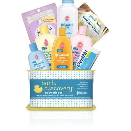 Jhonson Baby Gift Set by Johnson S Bath Discovery Baby Gift Set 8 Items Walmart