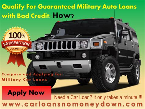 guaranteed car loan approval bad bad credit car financing for personnel members