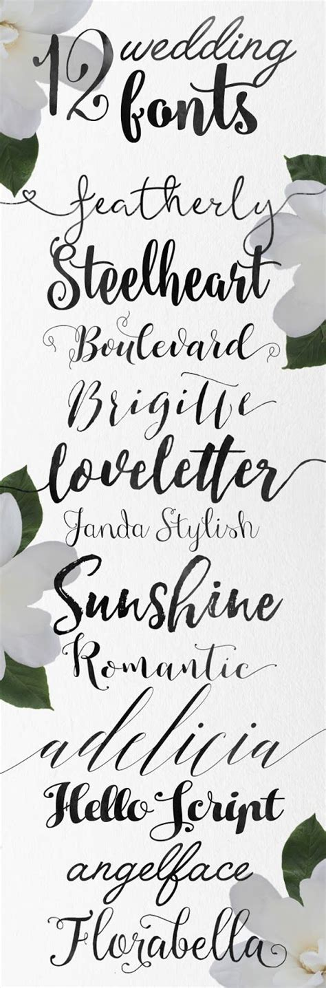 Wedding Fonts by Wedding Fonts Fonts And Calligraphy On