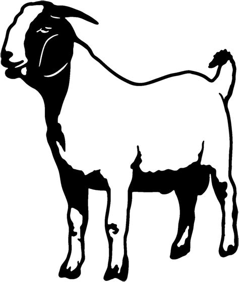 black and white clipart goat clip images black and white
