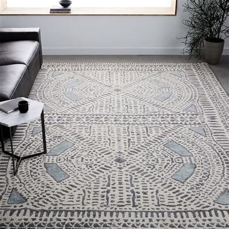 west elm blue rug dynasty rug dusty blue west elm