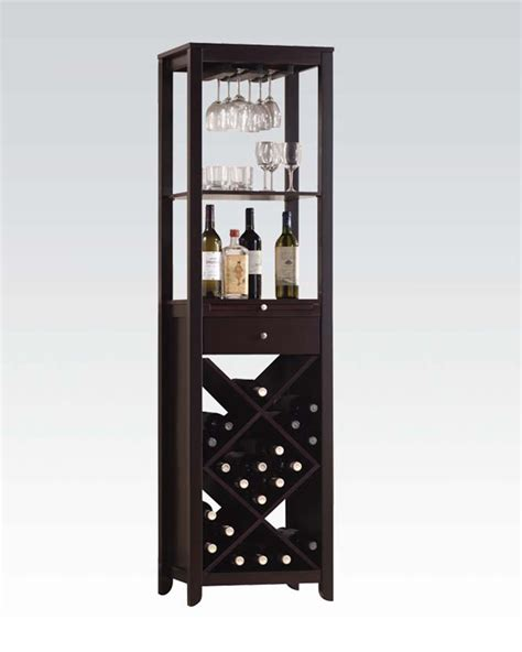 wine armoire wine cabinet in wenge by acme furniture ac12244