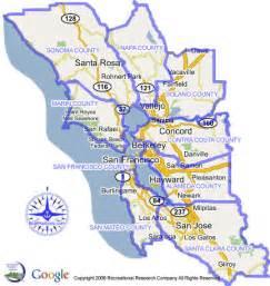 Map San Francisco Area by San Francisco Bay Area Marinas