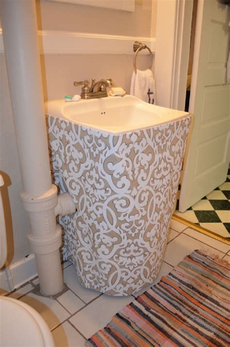 How To Make A Bathroom Sink Skirt by Top 10 Easy Diy Sink Skirts