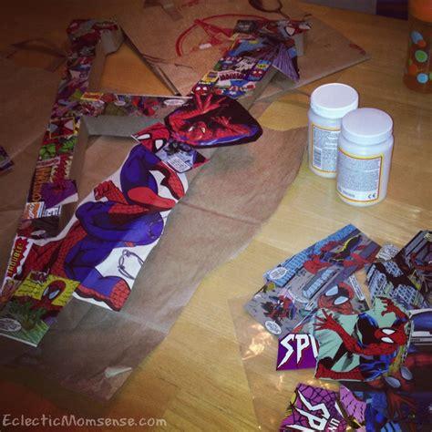 Comic Book Decoupage - comic book decoupage letter eclectic momsense