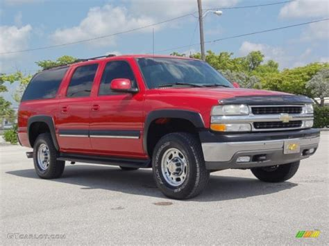 chevrolet suburban red 2002 victory red chevrolet suburban 2500 ls 66273732