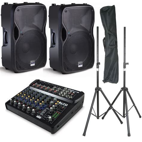 Mixer Alto Sound System alto ts112a speakers alto zmx122 fx mixer pa package