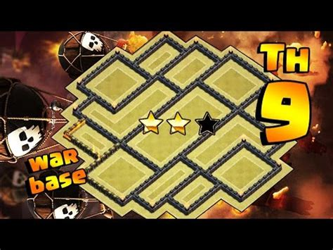 layout cv9 war youtube clash of clans o melhor layout cv9 de guerra anti 3