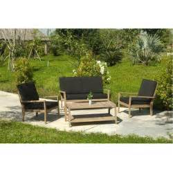 but salon jardin salon de jardin morocco en bois 2 fauteuils 1 sofa 2 tables 1 car interior design