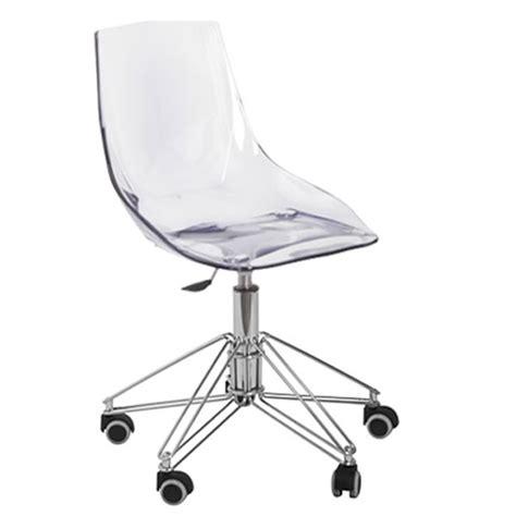 chaise de bureau transparente chaise bureau transparente fly chaise id 233 es de