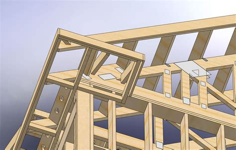 Cornice Return Framing utilizing attic space with dormers