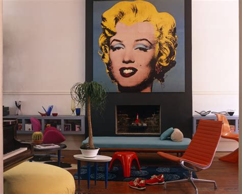 marilyn living room theme silk screen print photos design ideas remodel and decor lonny