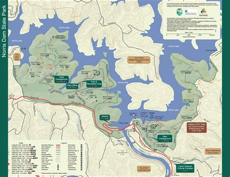 state parks map norris dam state park tennessee state parks