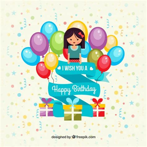 Birthday Card Template Freepik by Colorful Happy Birthday Card Vector Free