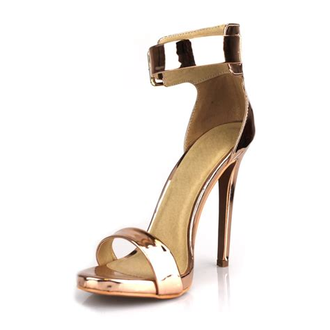 High Heel Sandals With Ankle Shoes high stiletto heel ankle peep toe sandal