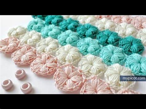 puntos de crochet estrella paso a paso punto estrella a crochet youtube