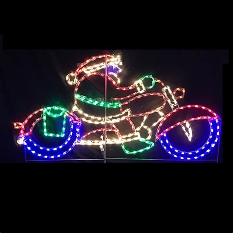 outdoor light up santa motorcycle christmas lights christmas lights card and decore