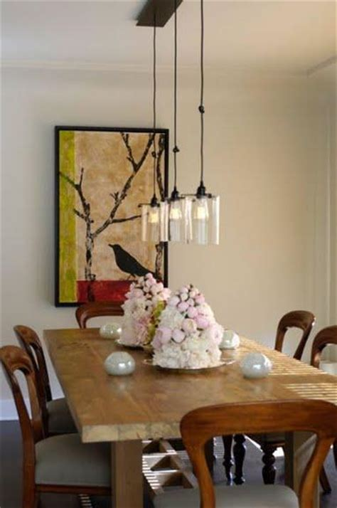 dining table size pendant lighting dining table