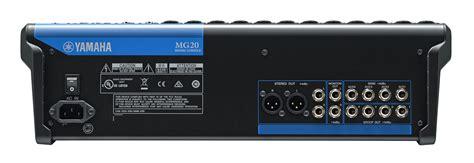 Mixer Yamaha 12 Channel yamaha mg20 20 channel mixer with compression worldmusic usa