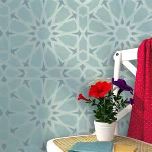 Moroccan Wall Decor by Zelij Moroccan Wall Stencils Reusable Template For Diy