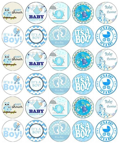Cupcake Toppers For Baby Boy Shower by Baby Shower Boy Cupcake Toppers Edible Wafer Paper Buy 2